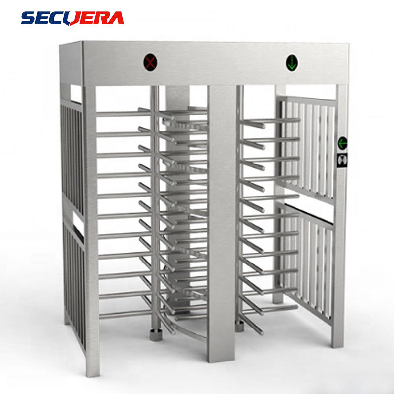 Hotel Access Control Double Lane Full Height Turnstile With IC ID Card Reader turnstile barrier gate